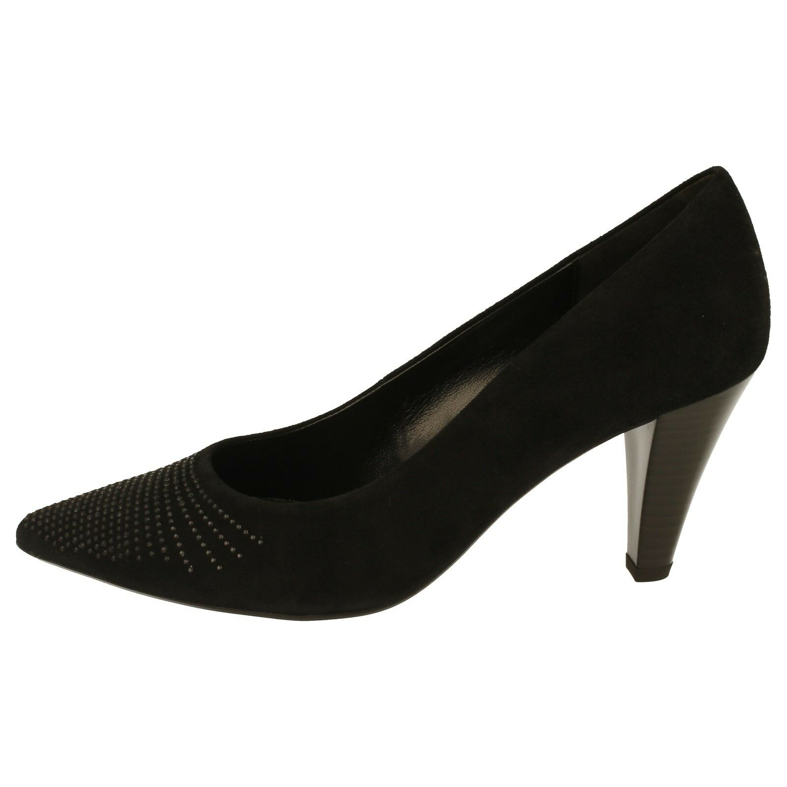 Mujer GABOR Zapatos 31281 (dalcross) Negro Zapatos De Salón Mediano Ante Tacón Mediano Salón e417b0