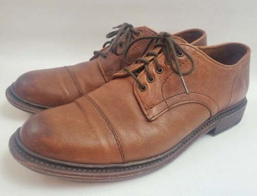FRYE Jack Oxford Buffalo Leather Whiskey Brown Cap