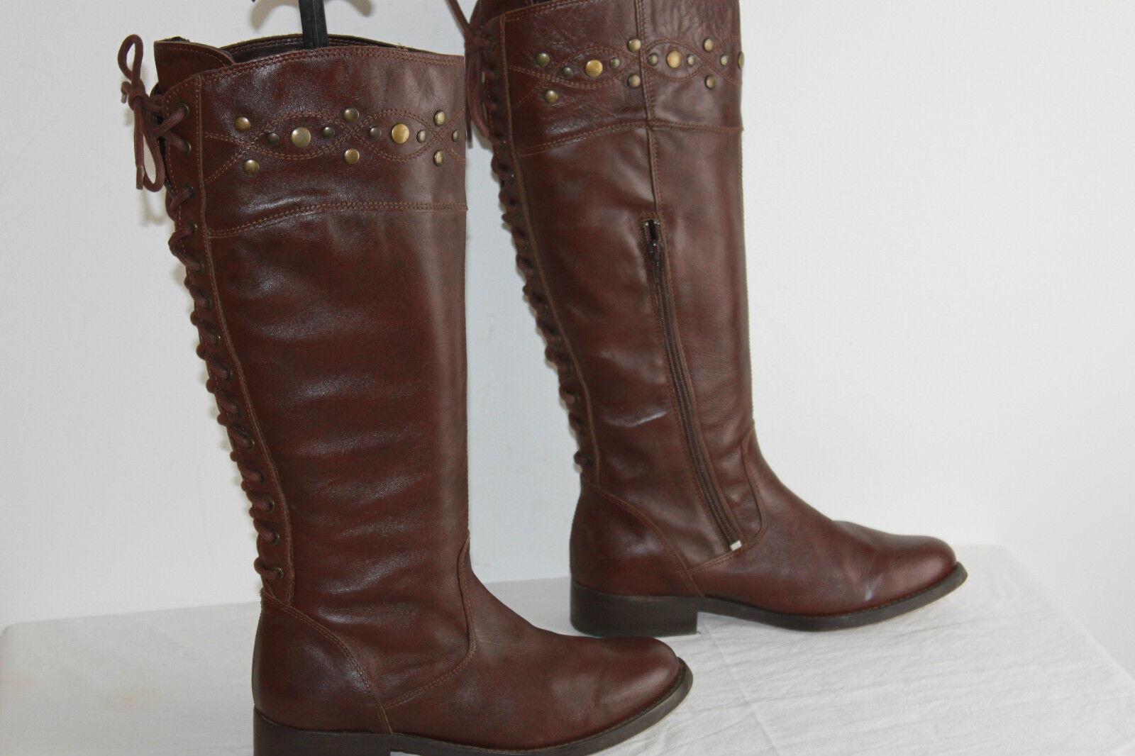Boots 3 3 SUISSES Leather Cognac T 38 TOP CONDITION