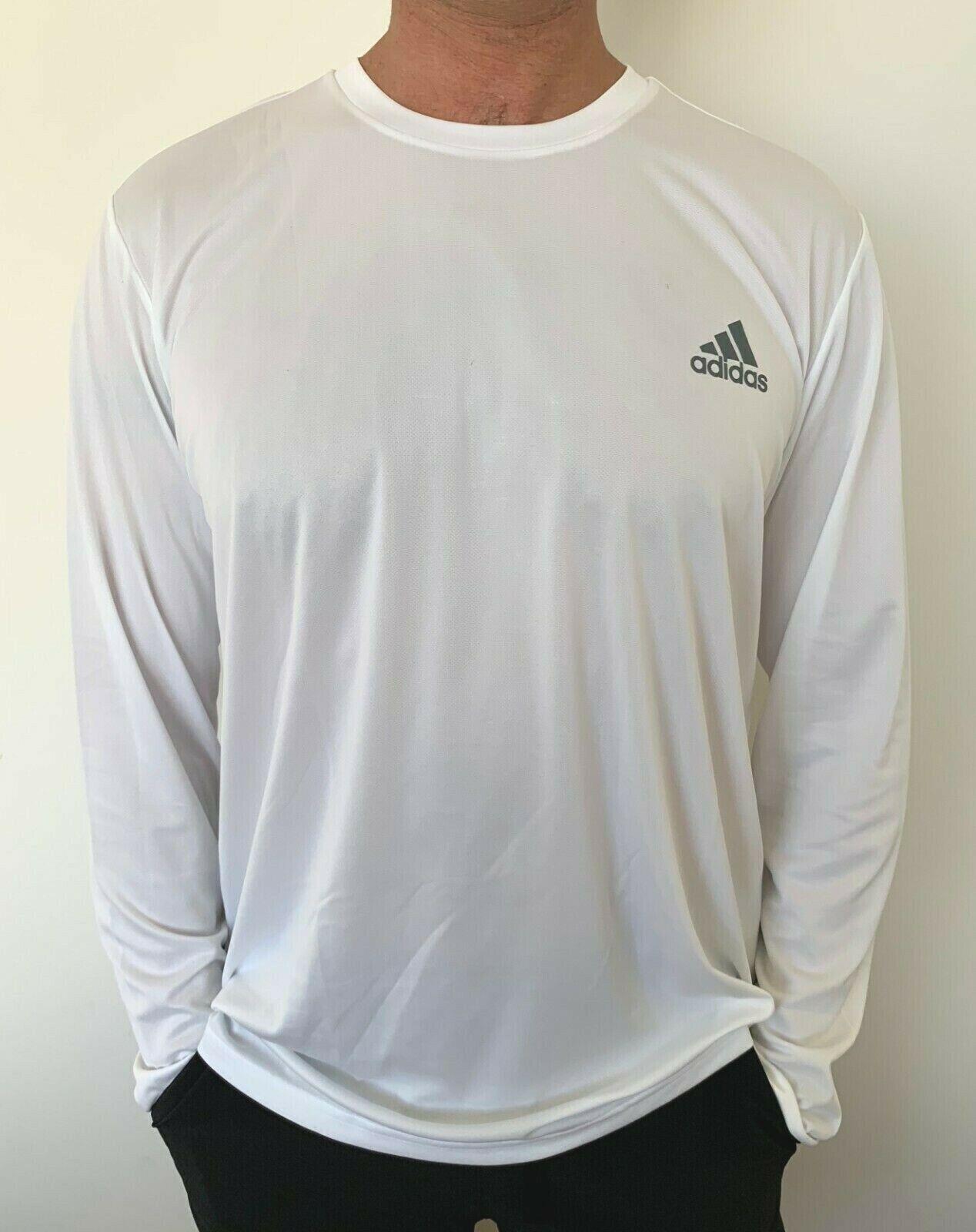 Aplastar para ver vergüenza  adidas Mens Climalite Long Sleeve T Shirt White Size S or XL for sale  online | eBay