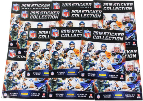 LOT OF 11 x PANINI 2015 NFL Football STICKER BOOKS w 5 Sticker Packs Deadstock