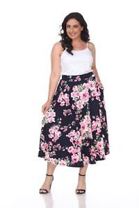 f812a5b1835 Image is loading White-Mark-Women-Plus-Sizes-Multi-Colored-Casual-