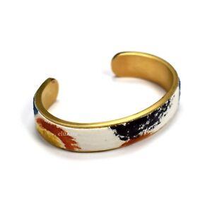 cuff Leather bracelet brass bracelet leather cuff