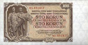 """Tchécoslovaquie 100 Couronnes 1953 Pick 086b (1)-ei 100 Kronen 1953 Pick 086b (1) """" Data-mtsrclang=""""fr-fr"""" Href=""""#"""" Onclick=""""return False;"""">afficher Le Titre D'origine Ooytcfnj-08003426-854305739"""