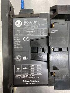 Allen Bradley, Contactor, 100-A75N*3, Coil: 208 VAC, 100-A75NH3, 75 Amps