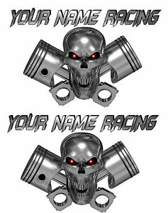 LARGE SET Custom Name Truck Trailer Motorcycle Graphics Decals - Custom motorcycle stickers racing
