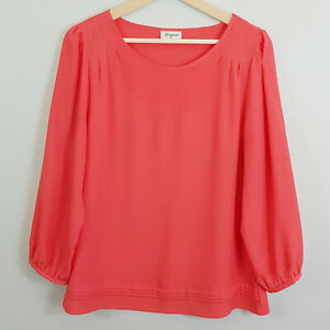 JEANSWEST-Womens-Soft-red-Blouse-Top-Size-AU-12-or-US-8