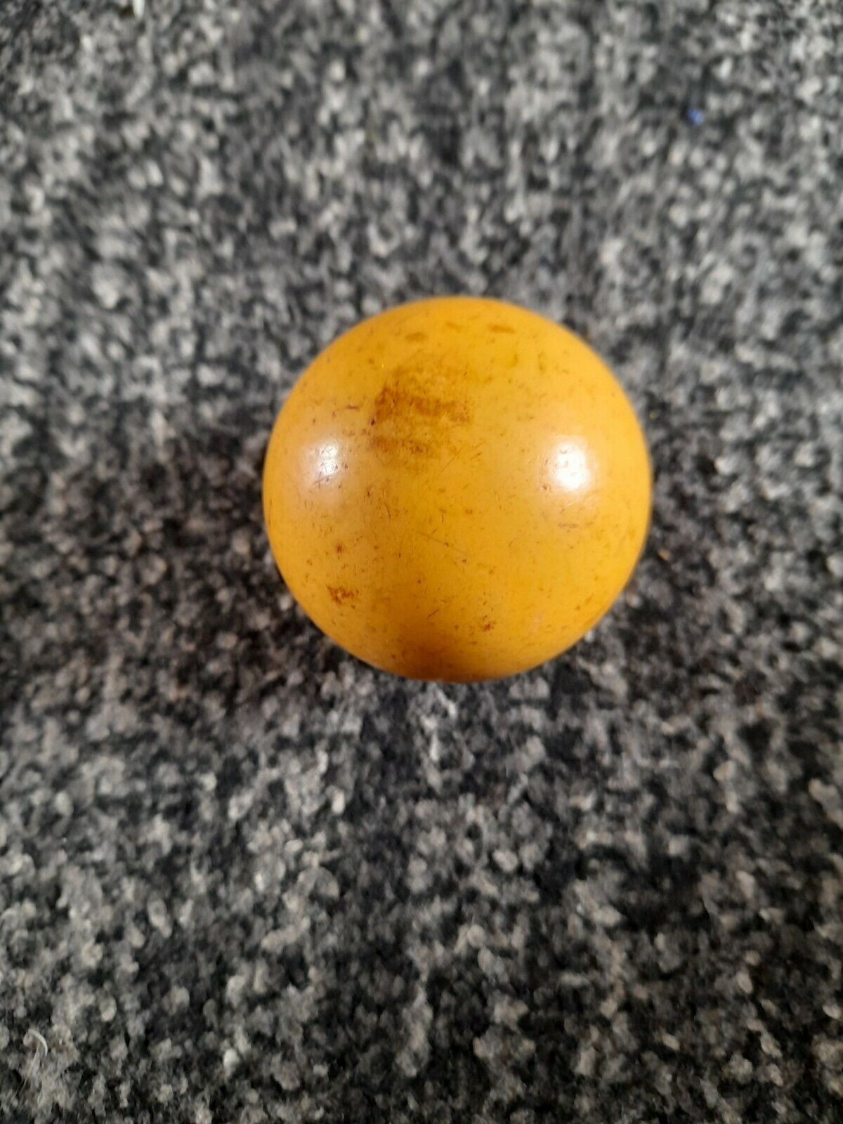 Standard Outdoor Yellow Lawn Bowls Jack (63-64mm, approx 259g) indoor