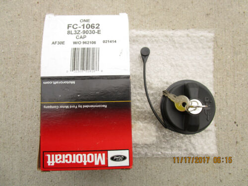 07-14 FORD F-150 F150 FUEL GAS TANK FILLER CAP WITH TETHER KEY LOCK OEM NEW