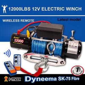 12v electric winch 12000lbs 5443kgs wireless synthetic rope image is loading 12v electric winch 12000lbs 5443kgs wireless synthetic rope