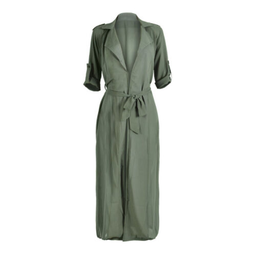 Women Beach Cardigan Loose Fit Trench Coat Jacket Outwear Overcoat Top Size S-XL