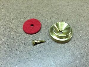 Solid Brass Grand/Baby Grand Piano Lid Support/Prop Cup w/Screw