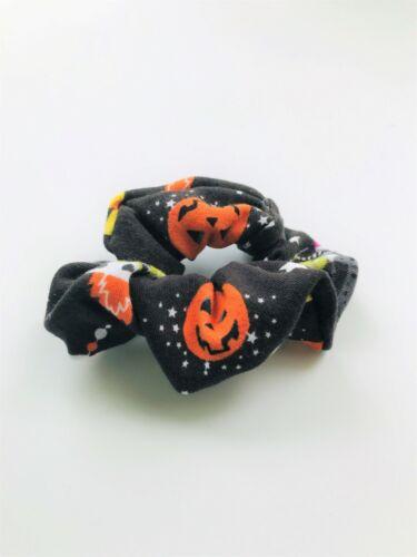 Halloween Scrunchie Glow in the Dark Messy Bun Handmade Scrunchie Back to School