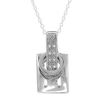 Petite Necklace W//0.63ctw Genuine Diamond //Ruby in 925 Sterling Silver 18in