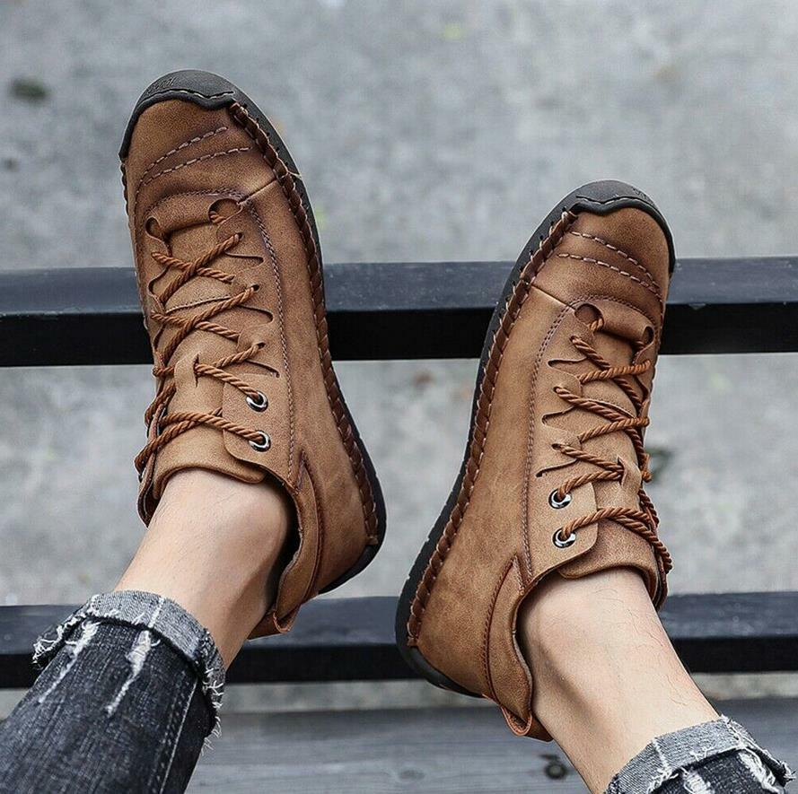 Men Shoes trainers Driving Moccasin Casual Boat Shoes Leather Ankle Boot Loafer