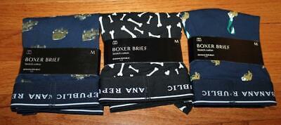 NEW NWT Mens Banana Republic Boxers Boxer Shorts Underwear MEDIUM *W1 THREE 3