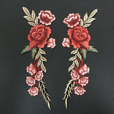 28.5*11cm 1 paar Blumen Rosen Aufnäher Bügelbilder Patches Patch Bügelflicken
