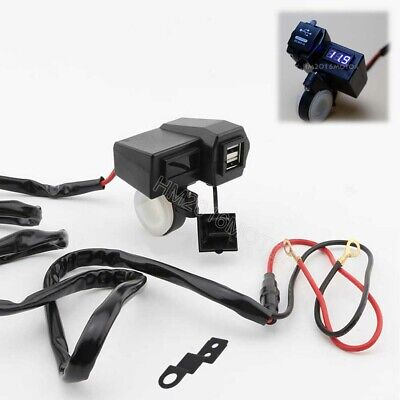 Phone GPS Power USB Charger Red Voltmeter For Honda Goldwing 1000 1200 1500 1800