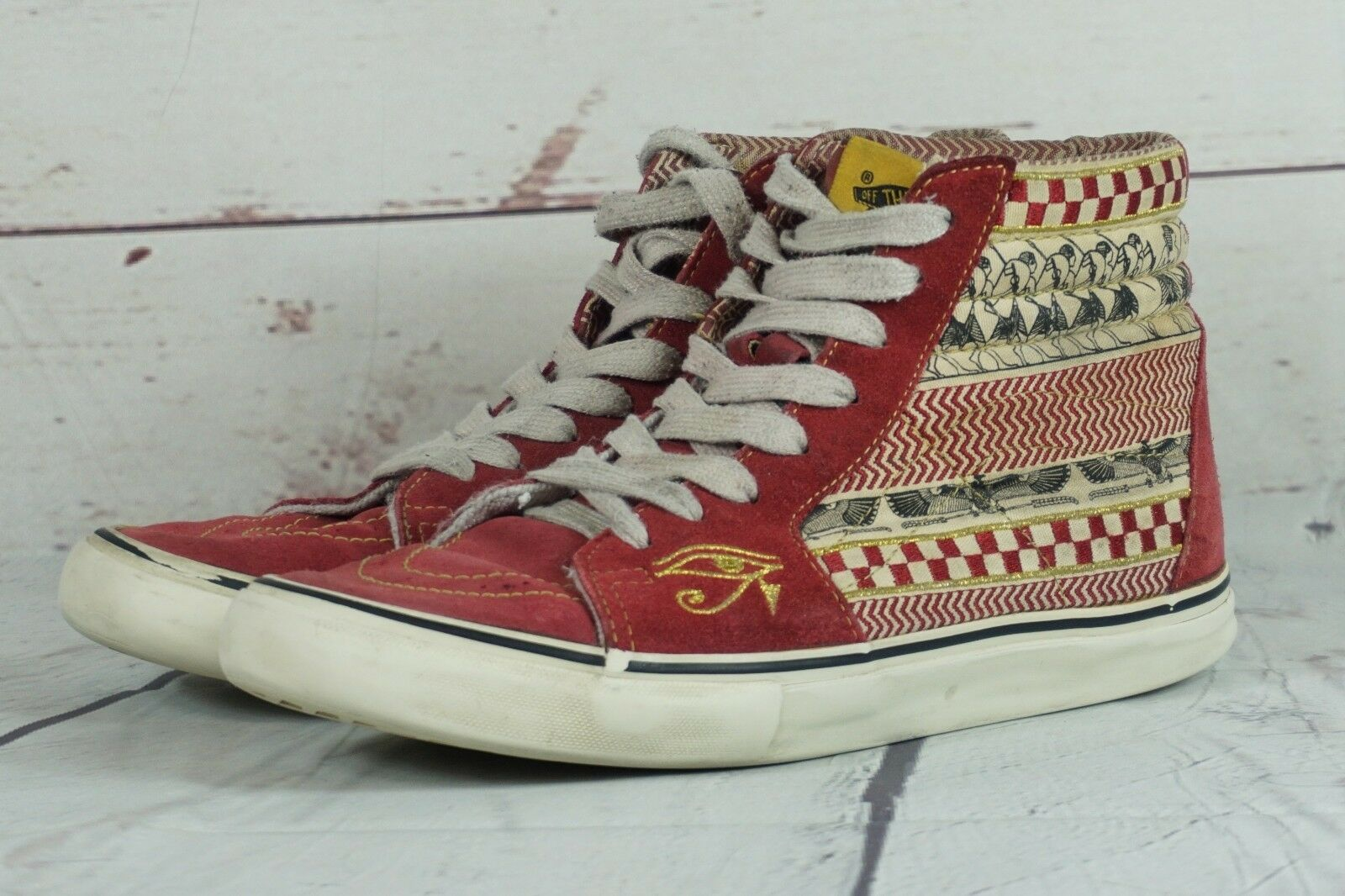 RARE Sneakers Vans Sh8-Hi Egyptian Warrior Size 8