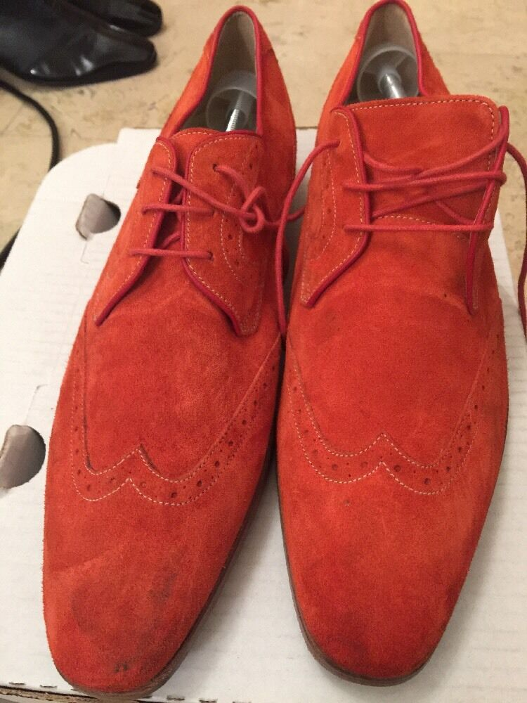 Oliver Sweeny orange Mens Suede Brogues shoes UK 9
