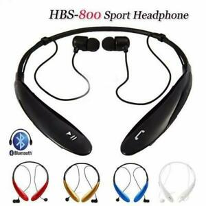 NEW-Bluetooth-Wireless-Neck-Band-Headset-amp-Wired-Earphones-COLOR-RED