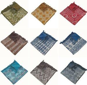 Indian Hand Block Imprimé Tapis Main Pesait 100% Coton Réversible Tapis 90x150cm-afficher Le Titre D'origine