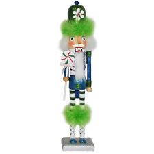 Christmas Nutcracker Figure The Candyman Collection Fun Green Feather 14S-B