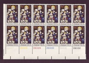 AT-FACE-1842-CHRISTMAS-MADONNA-LOT-OF-10-MINT-PLATE-BLOCKS-F-VF-NH