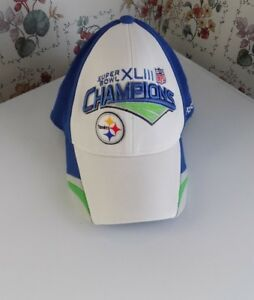 a1fd7636 Details about Pittsburgh Steelers Reebok Super Bowl XLIII 43 NFL Champions  Hat Cap One Size