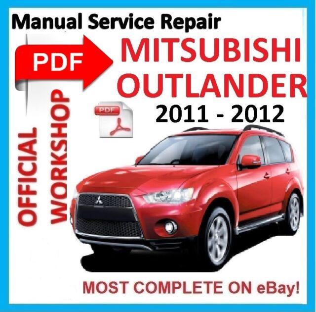 official workshop manual service repair for mitsubishi outlander rh ebay co uk Mitsubishi Outlander Front 03 Mitsubishi Outlander MPG