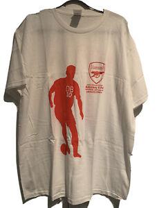 Dennis-Bergkamp-Arsenal-FOOTBALL-CLUB-AJAX-testimonial-Ufficiale-Calcio-T-shirt-2006-XL