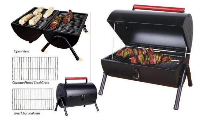 Sunbeam Black Steel Portable Charcoal BBQ Grill