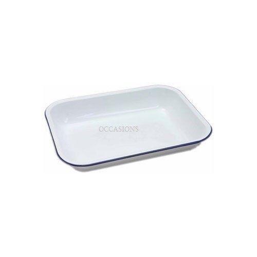 Backbleche & -formen Kochen & Genießen Falcon Emaille Kuchenform Länglich Traditionell Weiß 20cm