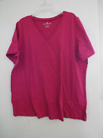 Women's Plus Perfect V Neck T Shirt In Bright Cherry Nip