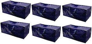 Storage-Bags-Extra-Large-Heavy-Duty-Reusable-Moving-Totes-w-Zipper-Pack-of-6