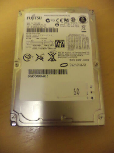 "1 of 1 - Fujitsu MHV2060BH 60Gb SATA 2.5"" Laptop Hard Drive"