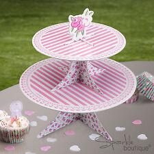 FRILLS & SPILLS CAKE STAND-REVERSIBLE DESIGN-Floral Tea Party-FULL RANGE IN SHOP