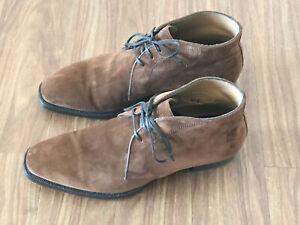 Meccariello-Men-039-s-Argentum-Brown-Suede-Chukka-Boots-UK8-EU42-WORN-TWICE