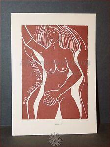 Erotica - Ex-libris Originale M . Matous Cssr Nudo Di Donna, Mario De Filippis T13yezyv-07235836-811148001