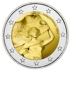 Malta-25-x-2-euro-muntrol-2014-Unc-034-Onafhankelijkheid-034-Commerative-Zichtrol