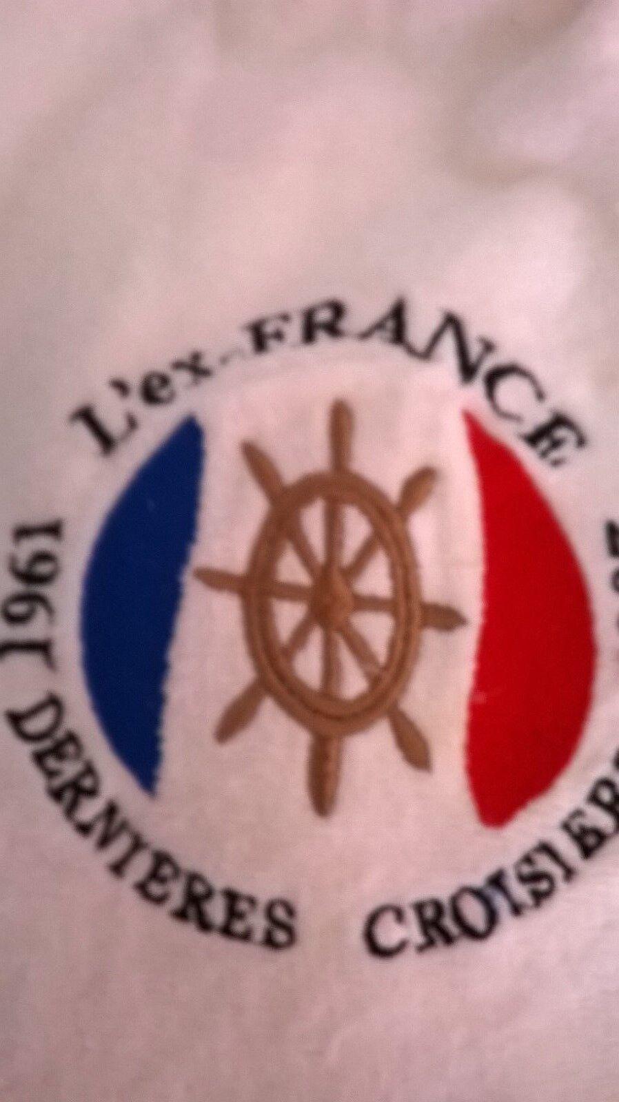LE FRANCE SAC DE PLACE +SERVIETTE DE BAIN BAIN BAIN EPONGE WeißHE NEUF 892131