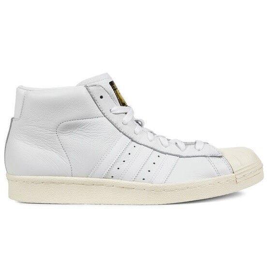 new arrival 92d96 03308 adidas Originals Pro Model Vintage DLX Shoes Trainers High Top White S75031  for sale online   eBay