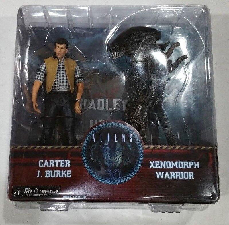 Aliens Carter J Burke & & & Xenomorph Warrior NECA Hadley's Hope Deluxe Figure Set c435f0