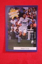PANINI ESTRELLAS EUROPEAS 1996  N. 5 AMAVISCA REAL MADRID  MINT!!!