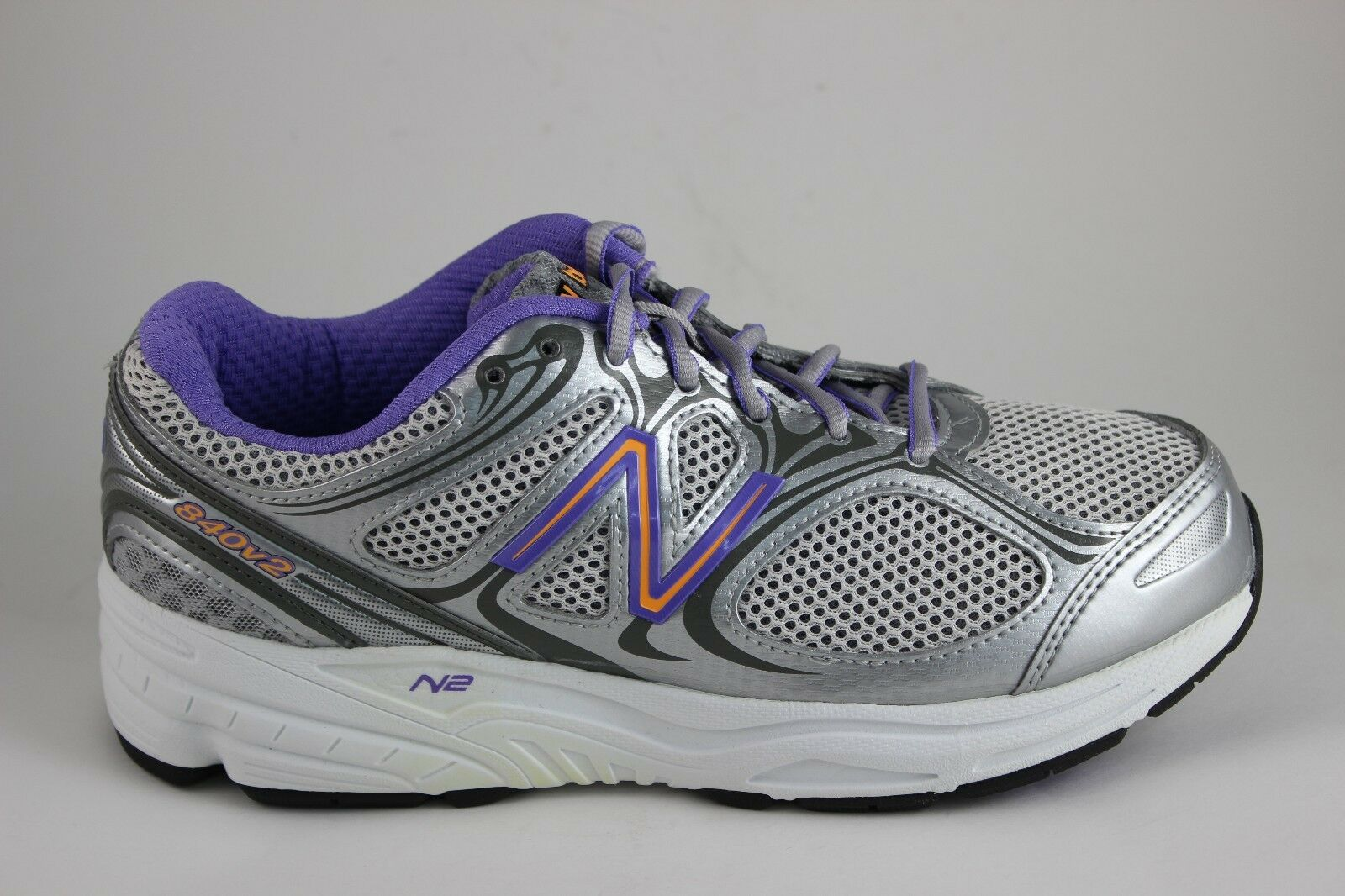 Mujer New Balance Atletismo 840 v2 Plata Púrpura blancoo W840SP2 Nuevo