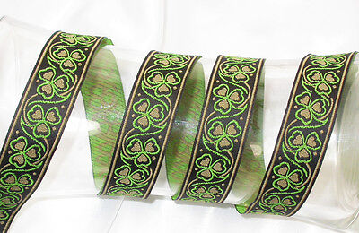 "1/"" 25mm /'Tudor Rosette/' Jacquard Ribbon x 1 yard"