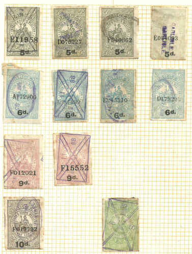 SELECTIONLOT 12 LONDON & NORTH WESTERN RAILWAY PARCEL STAMPS VARIOUS VALUES