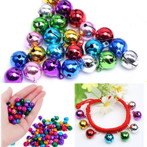 100X-Mix-Colour-Small-Jingle-Bells-Jewellery-Charm-Festive-Decor-DIY-Pendant