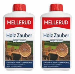€9/L MELLERUD Holz Zauber Pflege & Schutz 2 Liter (2x1L) Wetterschutz Pflege
