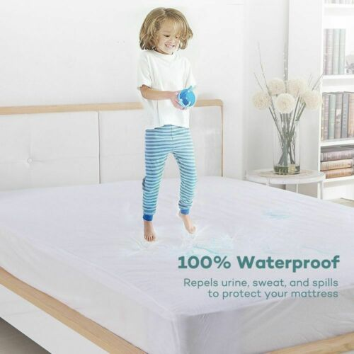Waterproof Terry Towel Mattress Protector Fitted Sheet Single Double King Bed